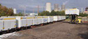 Odpad z Moravy bude převážen v nástavbách Innofreight. Foto: ČD Cargo