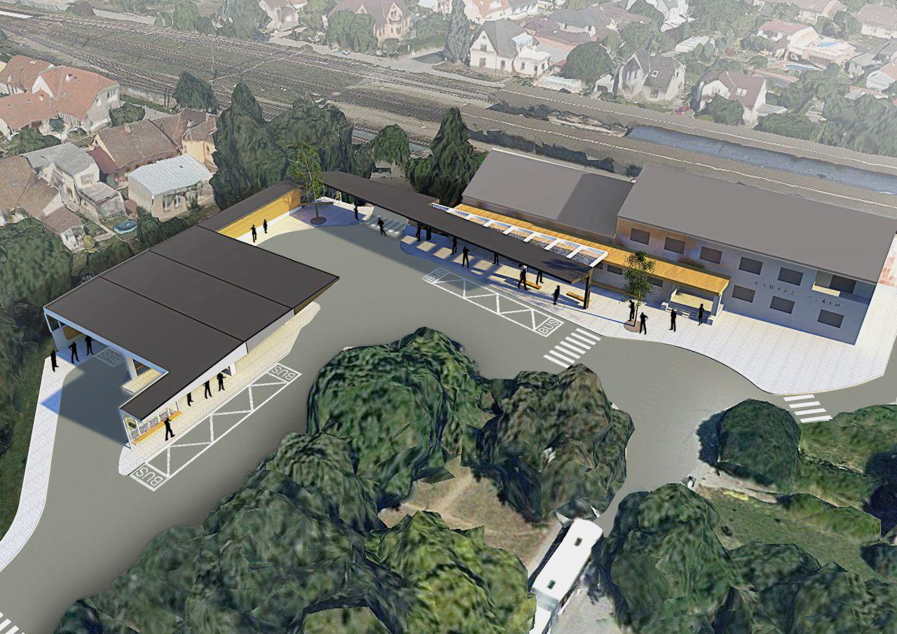 Vizualizace nového autobusového nádraží v Kuřimi. Foto: kurim.cz