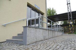 Opravená výpravní budova zastávky Litoměřice město. Foto: Město Litoměřice