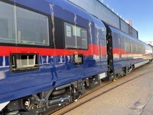 První vozy soupravy NightJet opouští vídeňský závod Siemensu. Foto: Siemens