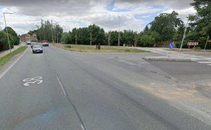 Křižovatka silnice I/38 s Velimskou ulicí v Nové Vsi. Foto: Google Street View