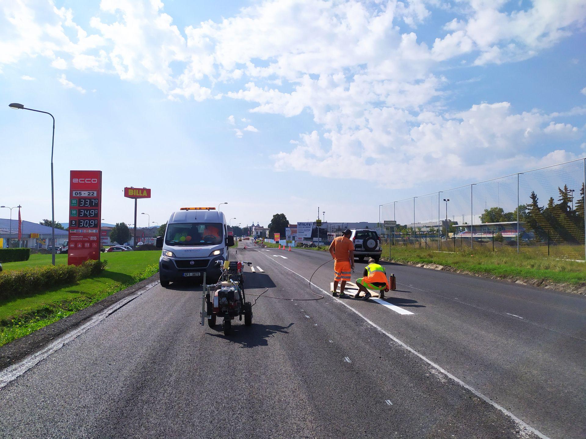 Oprava silnice I/27. Pramen: ŘSD