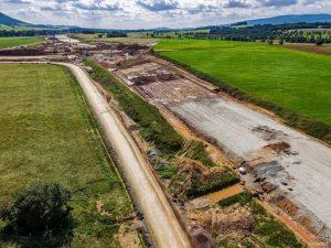 Stavba rychlostní silnice S3 u polsko-české hranice. Foto: GDDKiA