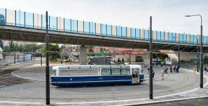 Tramvajová smyčka Zahradní Město. Foto: Petr Hejna / DPP