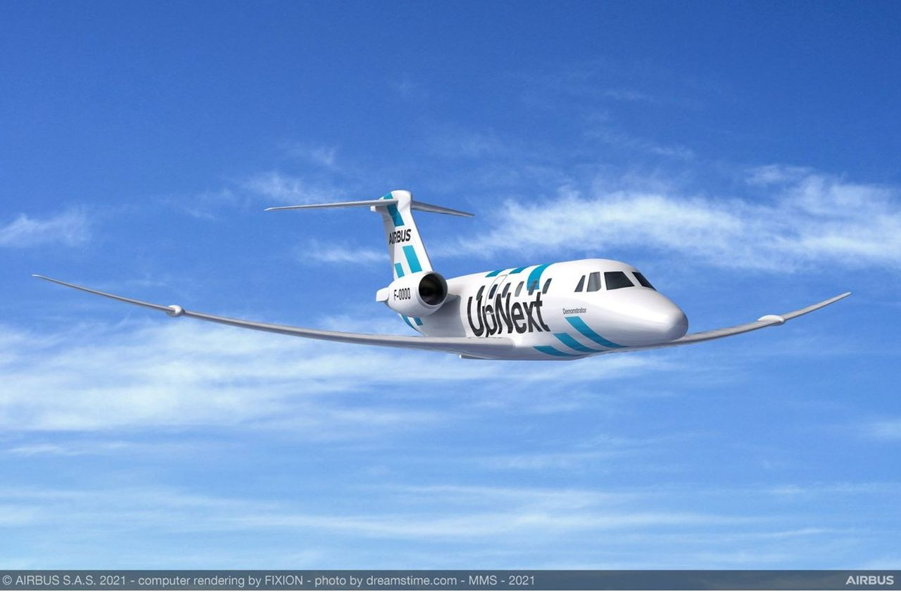 Vizualizace nového typ křídel. Foto: Airbus