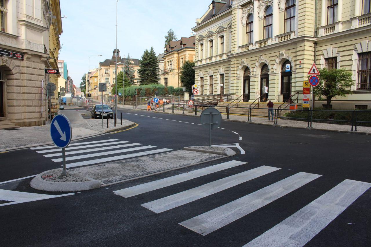 Opravená Poštovní ulice v Jablonci nad Nisou. Foto: Jablonec nad Nisou
