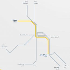 Síť linek tramvají v Plzni po dokončení trati na Vinice. Foto: Plzen.eu