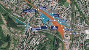 Mapa rekonstrukce stanice Vsetín. Foto: Město Vsetín