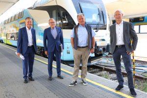 Předání nových jednotek Stadler Kiss. Foto: Westbahn
