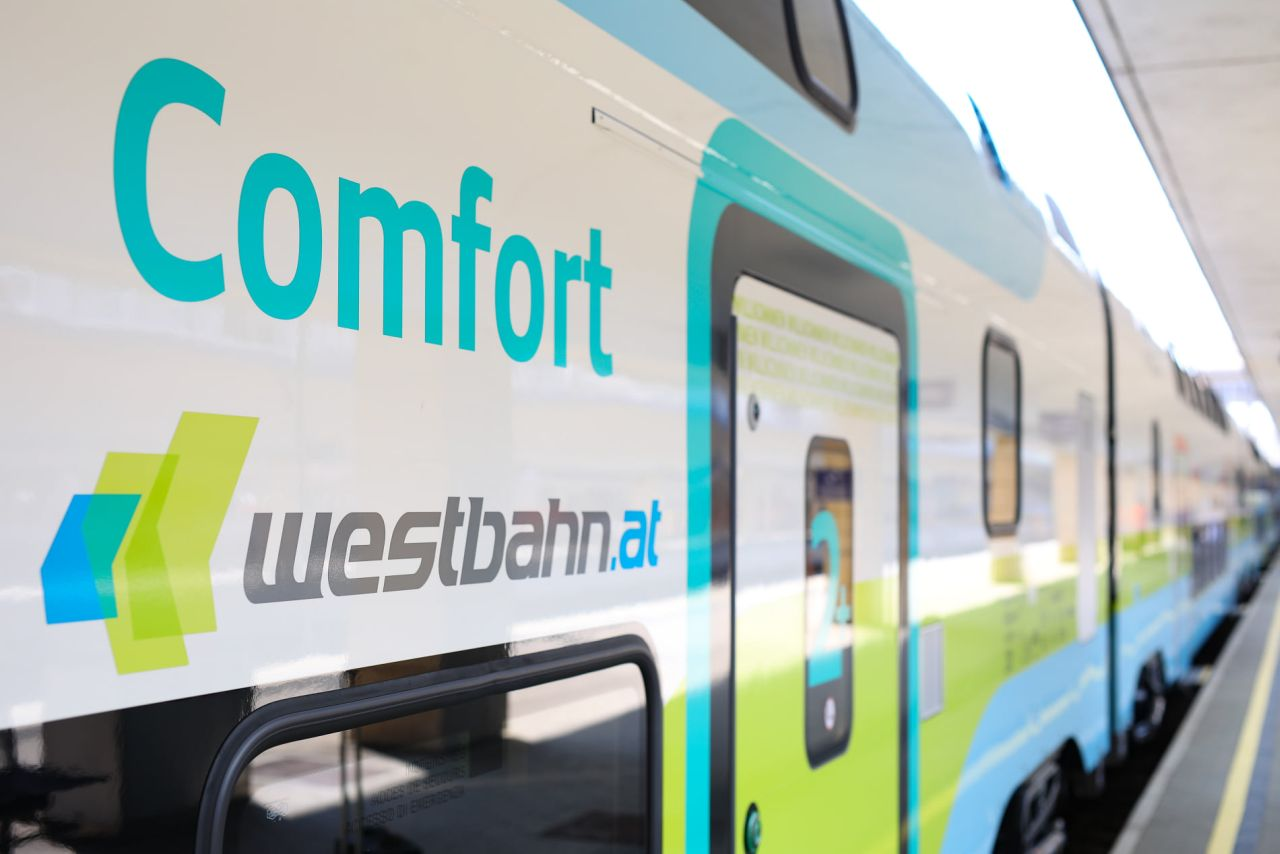 Jednotka Stadler Kiss 3. Foto: Westbahn