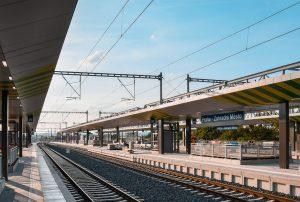 Terminál Zahradní Město je těsně před dokončením (17. 9. 2021). Pramen: Správa železnic