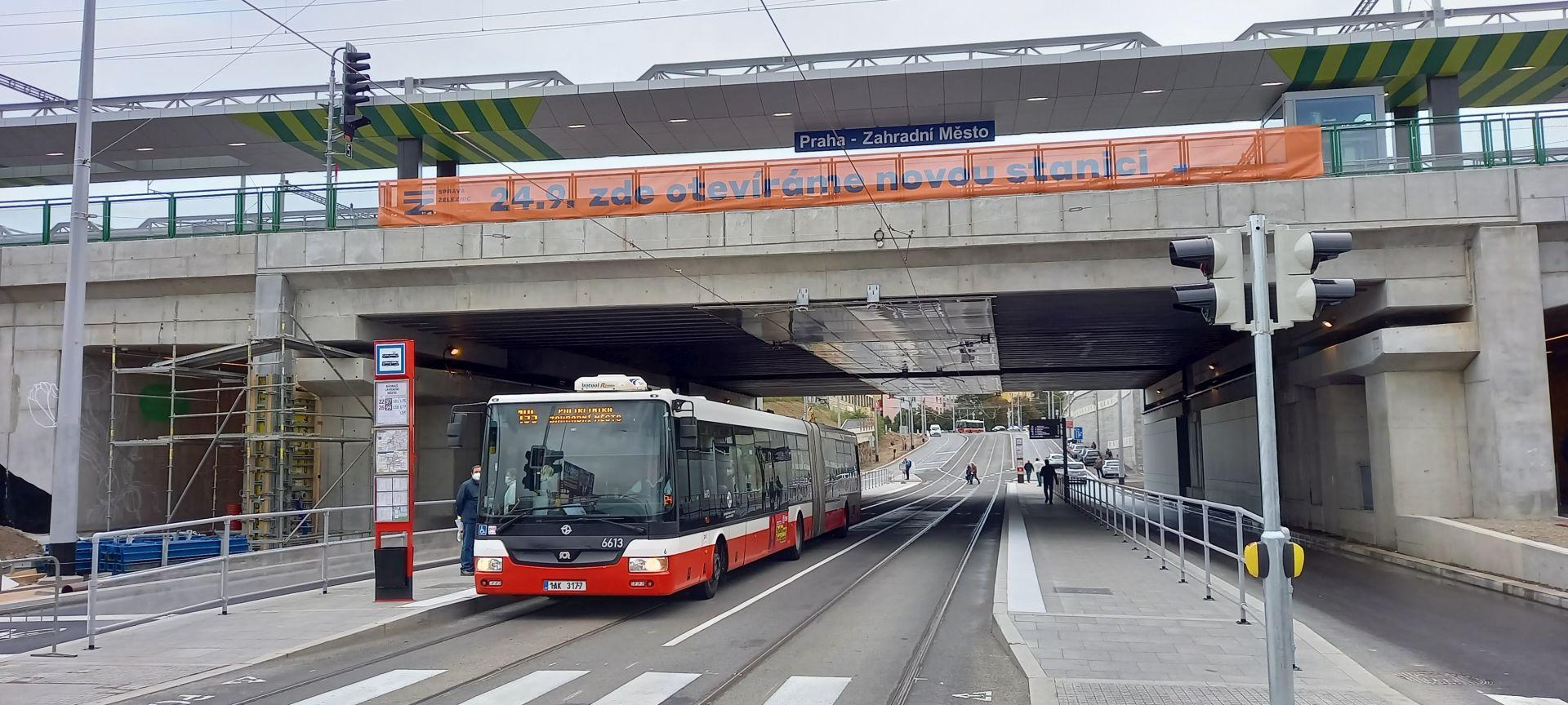 Nový terminál Praha-Zahradní Město. Autor: Zdopravy.cz/Jan Meichsner