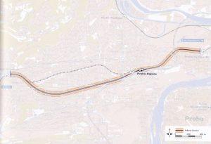 Tunel Dejvice - Veleslavín. Pramen: Správa železnic