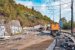 Rekonstrukce tramvajové trati na nábřeží E. Beneše. Pramen: ROPID