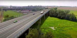 Vizualizace dálnice D35 u Hořic. Foto: ŘSD