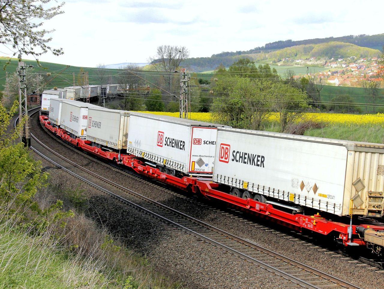 Nákladní vlak. Foto: DB Schenker