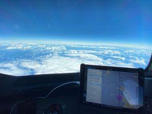 Výhled během letu z Buenos Aires do Darwinu. Foto: Qantas