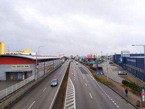 Strakonická ulice v Českých Budějovicích. Pramen: ŘSD