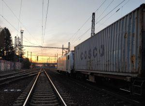 Vykolejení nákladního vlaku v Praze-Běchovicích. Foto: Drážní inspekce