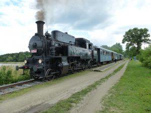 Parní lokomotiva 423.041 Velký bejček zroku 1924. Pramen: České dráhy