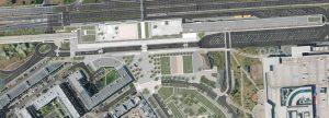 Zákres budoucí podoby terminálu Černý Most. Foto: re:architekti
