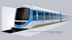 Vizualizace nového metra pro pařížskou aglomeraci. Foto: Alstom