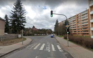 Křižovatka ulic Josefa Čapka a Železničářů v Kladně. Foto: Google Street View