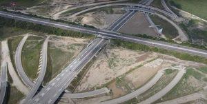 Neexistující křižovatka dálnic D1 a D4 u Bratislavy. Foto: NDS