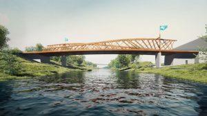 Nový most přes Ostravici. Vizualizace: Roman Koucký