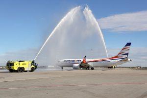 Boeing 737 MAX 8 společnosti Smartwings před odletem do Dubaje. Foto: Letiště Praha