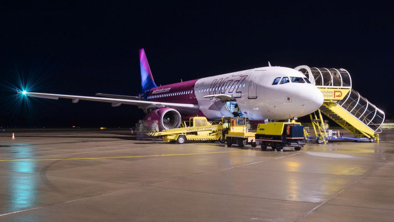 Airbus A320 společnosti Wizz Air. Foto: Letiště Pardubice