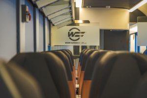 Nový interiér jídelních vozů WRmz, které nasazuje na dálkové vlaky ZSSK. Foto: ZSSK