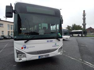 Autobus Iveco Crossway společnosti Z-Group Bus nasazený na tramvajovou výluku v Ostravě. Foto: Jan Meichsner / Zdopravy.cz