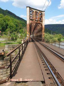 Most přes Labe v Dolním Žlebu. Foto: Strabag Rail